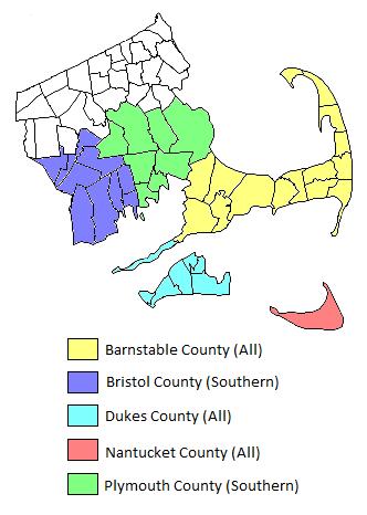 Cape Cod Territory Map